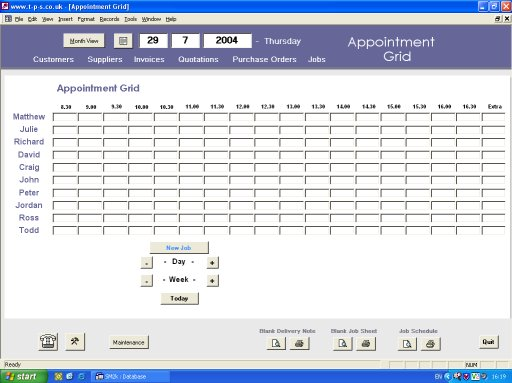 MS Access - Daily Appointment Grid