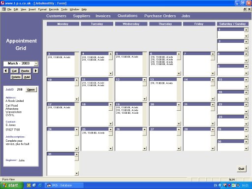 MS Access - Appointment Grid